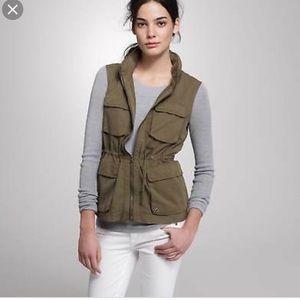 J.crew utility olive vest never worn